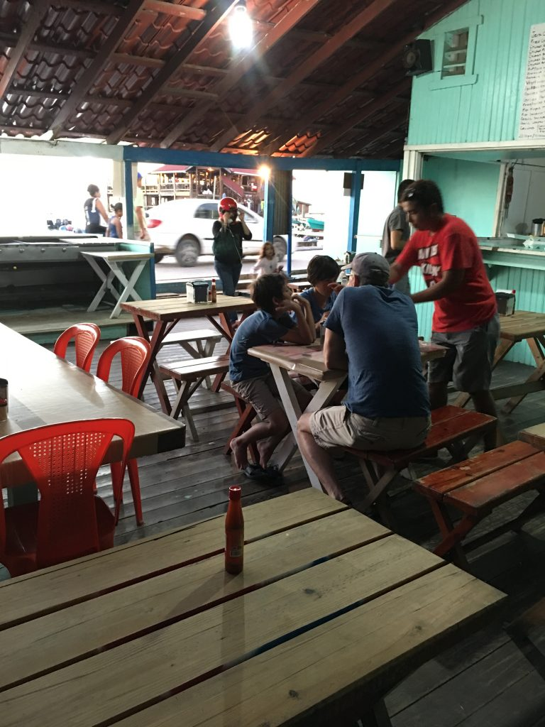 Family run restaurant in Roatan