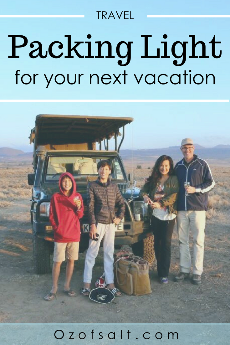 How to travel with just a carry on. Check out these packing tips on how to survive your next vacation with just packing a carry-on bag. What you need to include that will keep you going all vacation long! #ozofsalt #traveltips #vacationplanning #packingtips