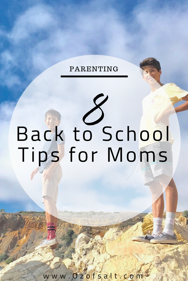 need some back to school tips for your teens? Here are some great tips for moms on how to prepare your teens for the first day of school. #ozofsalt #schooldays #raisingteens