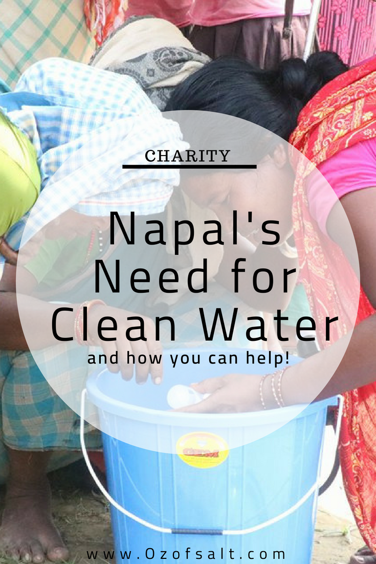 how to bring clean water to a suffering nation. Nepal's need for clean water is desperate after monsoon season. Learn how you can help bring clean water to the people of Nepal. #ozofsalt #nepal #cleanwater