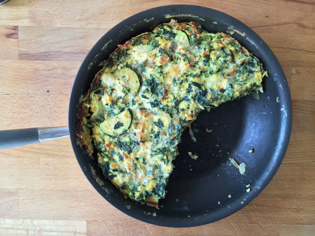 Frittata in a skillet from EmilyAlwaysCooks
