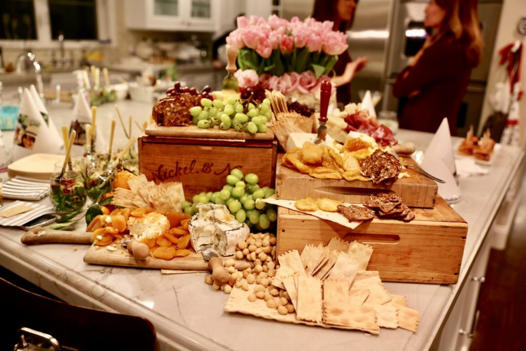 how to plan a party Charcuterie board